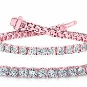 Natural 1003ct VSSI Diamond Tennis Bracelet 18K Rose