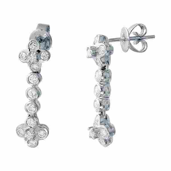 085 CTW Diamond Earrings 14K White Gold REF79F2N