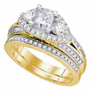 2.74 CTW Princess Diamond Bridal Engagement Ring 14KT