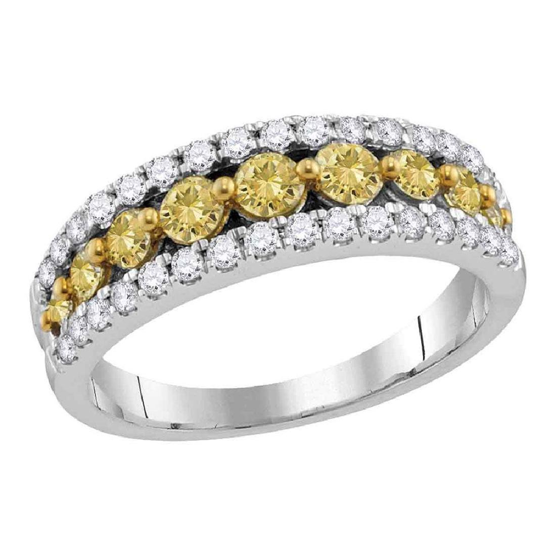 2.06 CTW Yellow Diamond Ring 14KT White Gold -
