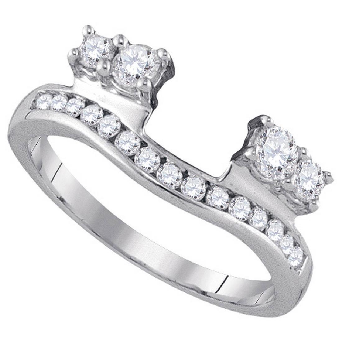 0.50 CTW Diamond Ring 14KT White Gold - REF-52W4K
