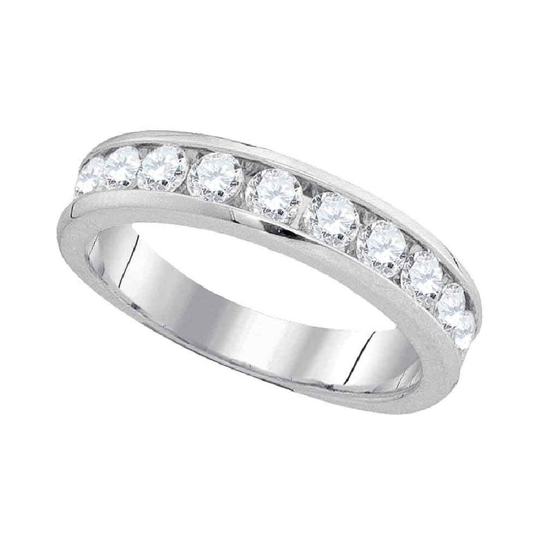 1.03 CTW Diamond Wedding Ring 14KT White Gold -