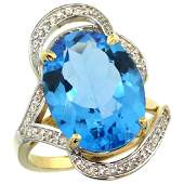 Natural 1123 ctw swissbluetopaz  Diamond Engagement