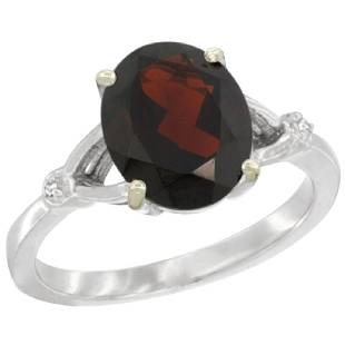 Natural 241 ctw Garnet Diamond Engagement Ring 14K