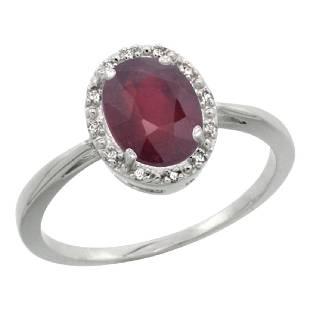 Natural 152 ctw Ruby Diamond Engagement Ring 14K