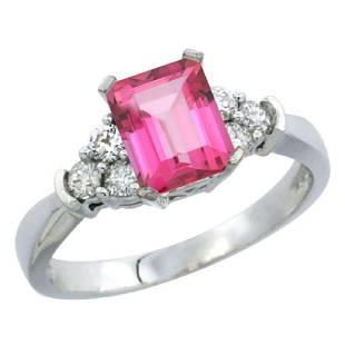 Natural 148 ctw pinktopaz Diamond Engagement Ring