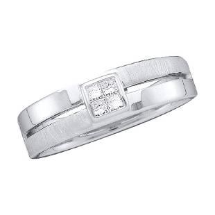 015 CTW Mens Princess Diamond 5mm Wedding Anniversary
