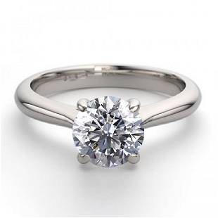 14K White Gold 102 ctw Natural Diamond Solitaire Ring