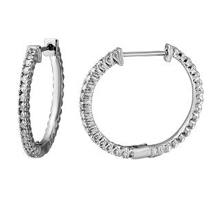 054 CTW Diamond Earrings 14K White Gold REF60H2M