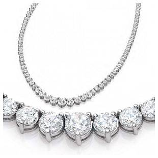 Natural 826CTW VS2IJ Diamond Tennis Necklace 18K