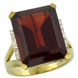 Natural 1213 ctw Garnet Diamond Engagement Ring 10K