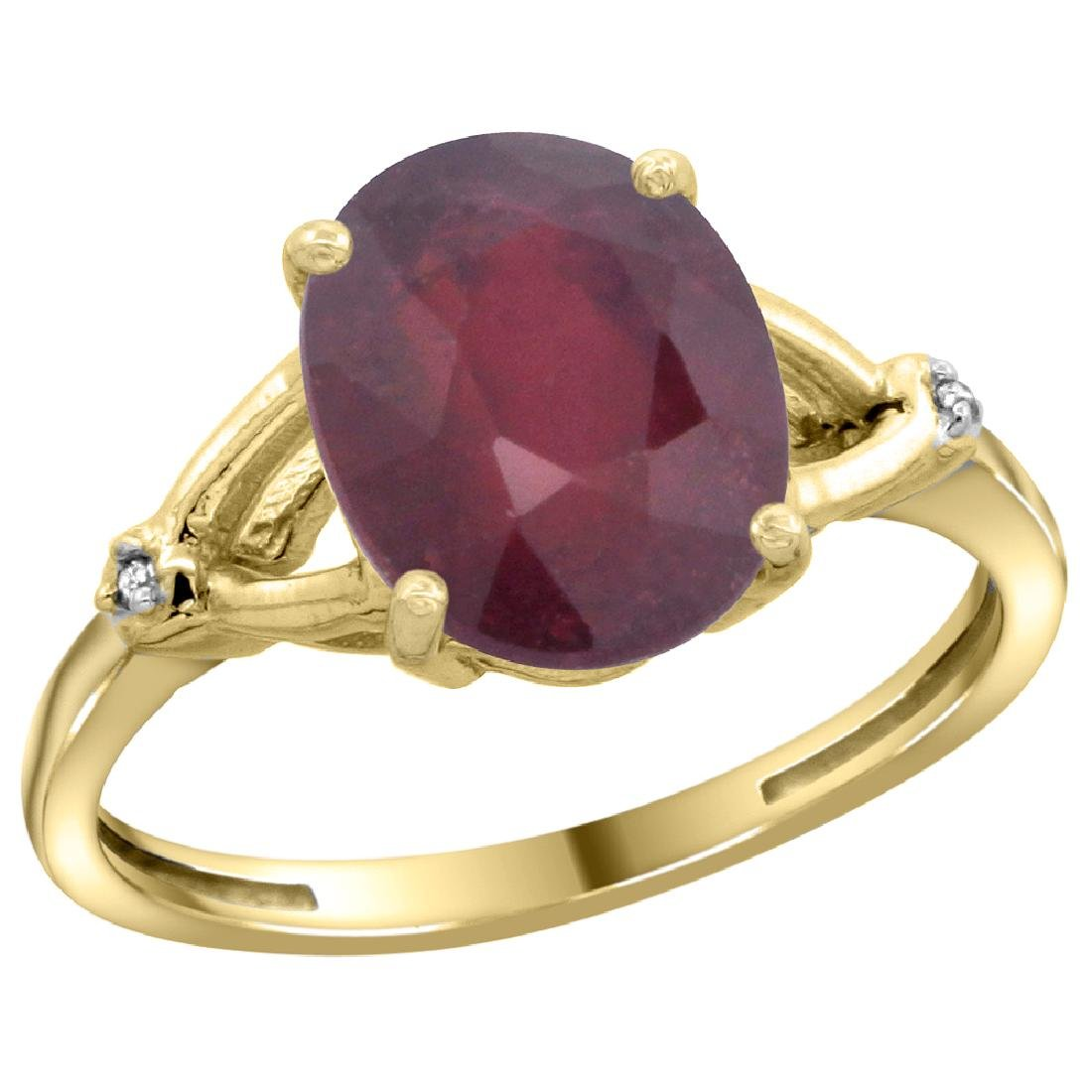 Natural 3.65 ctw Ruby & Diamond Engagement Ring 14K