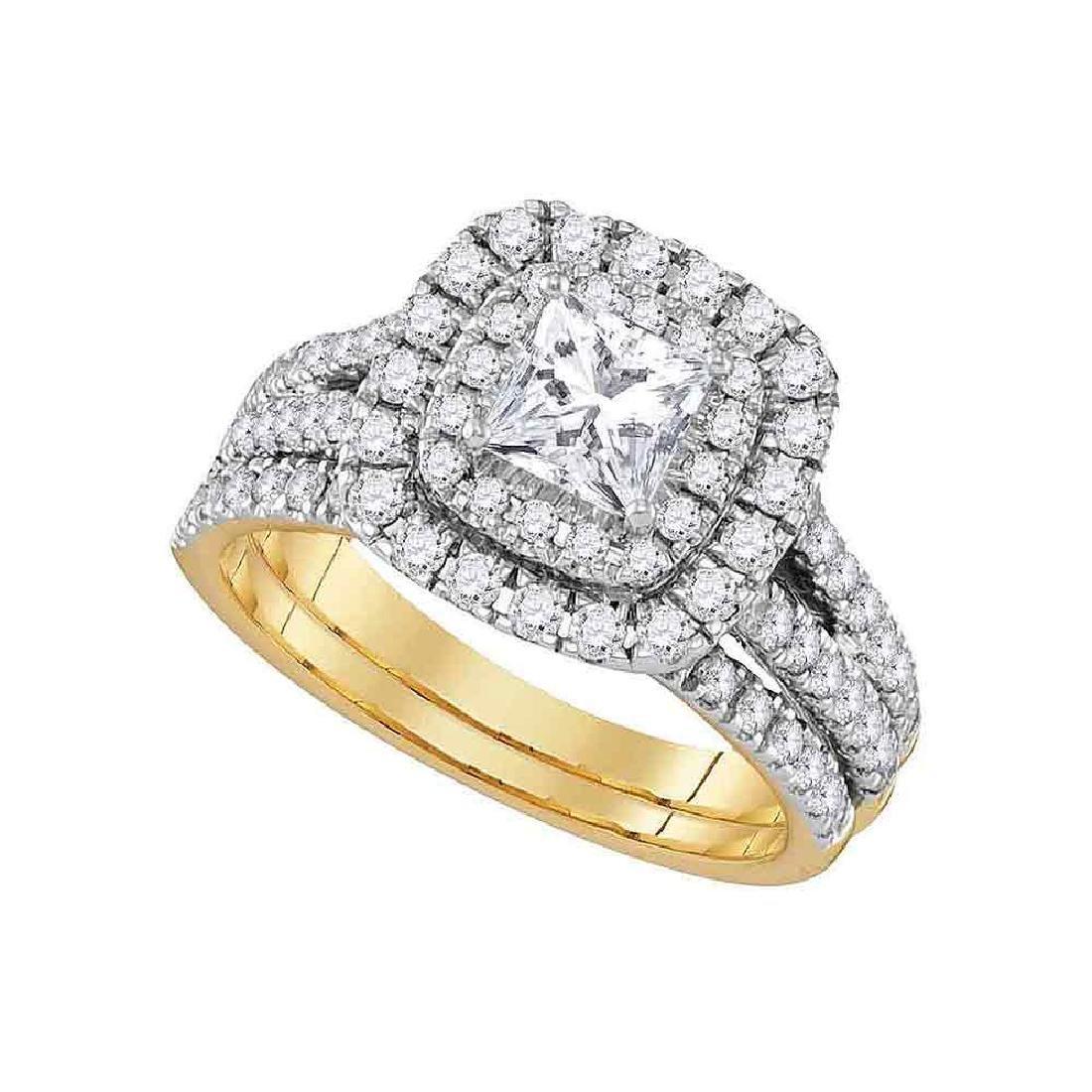 0.84 CTW Princess Diamond Solitaire Bridal Engagement