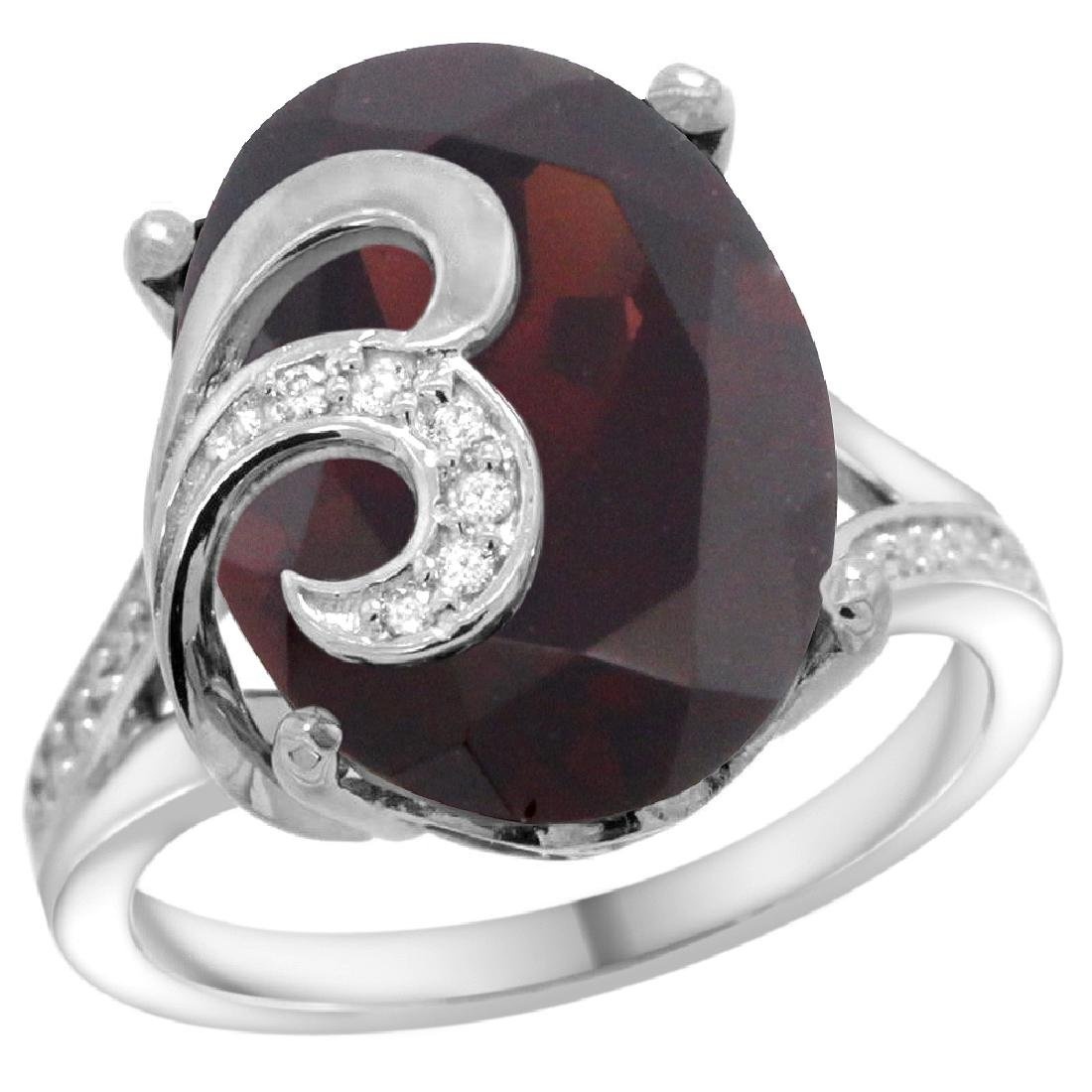 Natural 11.18 ctw ruby & Diamond Engagement Ring 14K