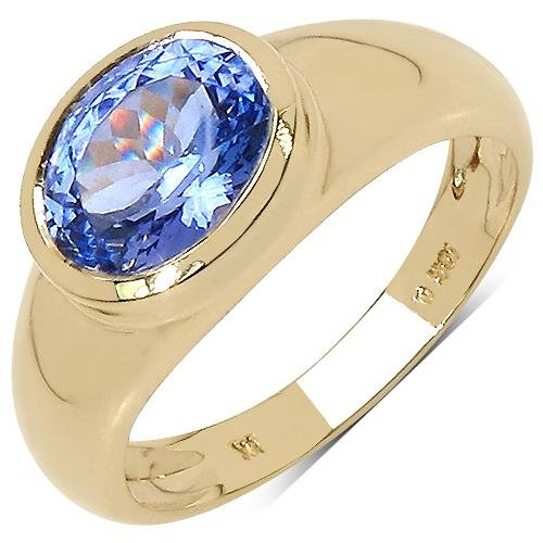 1.80 CTW Tanzanite Ring 10K Yellow Gold - REF-73A6V