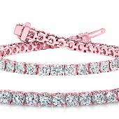 Natural 702ct VSSI Diamond Tennis Bracelet 14K Rose