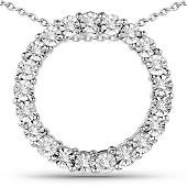 018 CTW Diamond Pendant 14K White Gold REF68M8A
