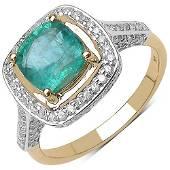 192 CTW Zambian Emerald 058 CTW Diamond Ring 14K