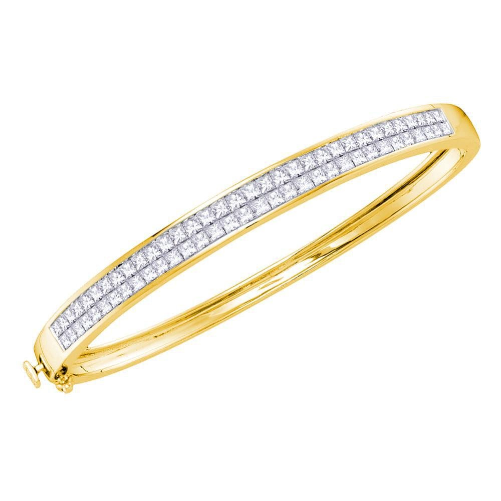4.01 CTW Diamond Bangle 14K Yellow Gold - REF-489N3A