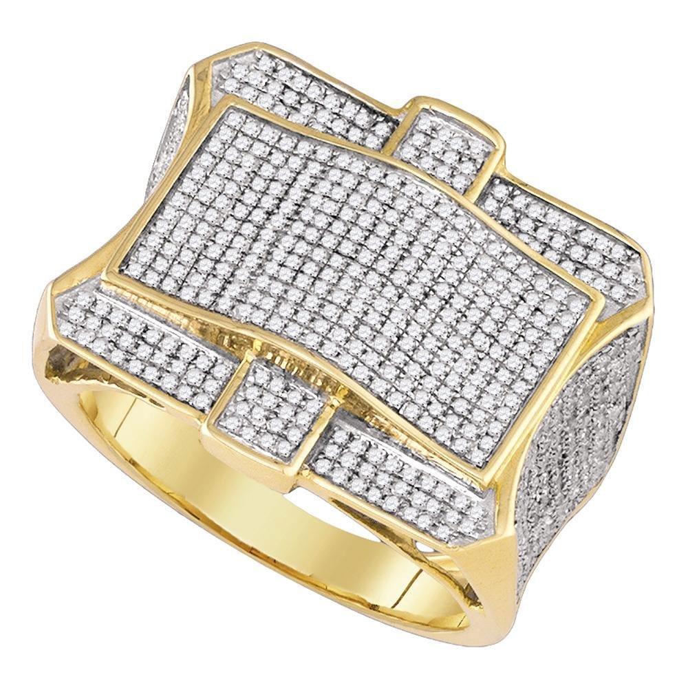 1.3 CTW Diamond Micro-Pave Ring 10K Yellow Gold -