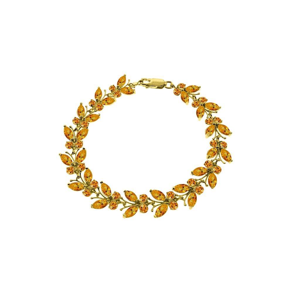 Genuine 16.5 ctw Citrine Bracelet 14KT Yellow Gold -