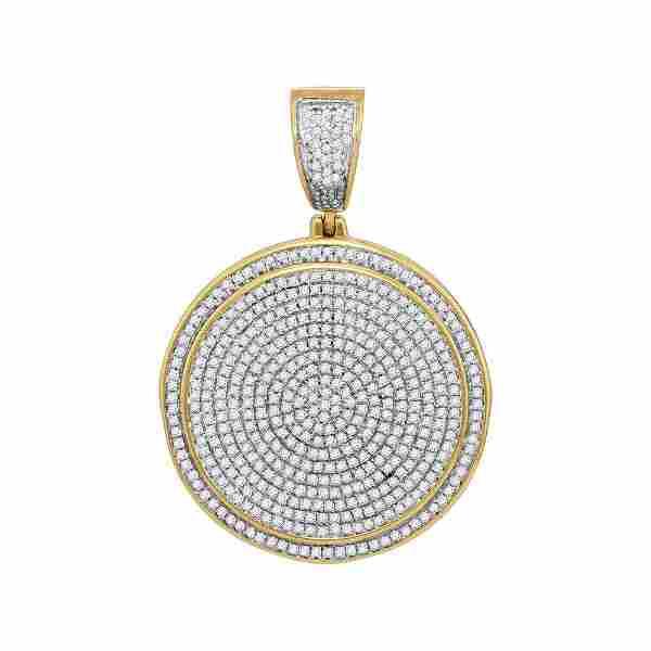 1 CTW Diamond Medallion Pendant 10K Yellow Gold -