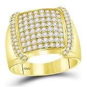 175 CTW Diamond Mens Ring 14K Yellow Gold  REF184A4V