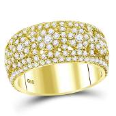 25 CTW Diamond Mens Ring 14K Yellow Gold  REF224X5R