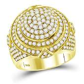 333 CTW Diamond Mens Ring 14K Yellow Gold  REF320R7K