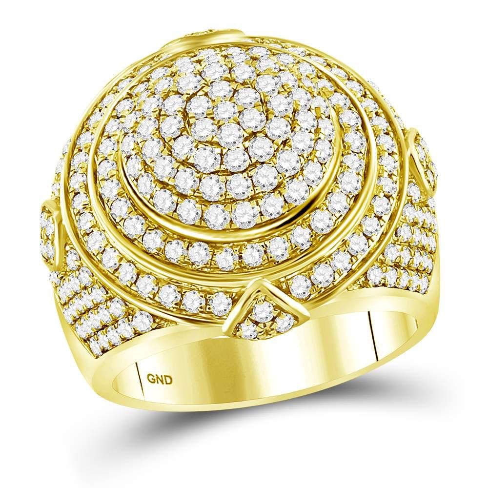 3.33 CTW Diamond Mens Ring 14K Yellow Gold - REF-320R7K