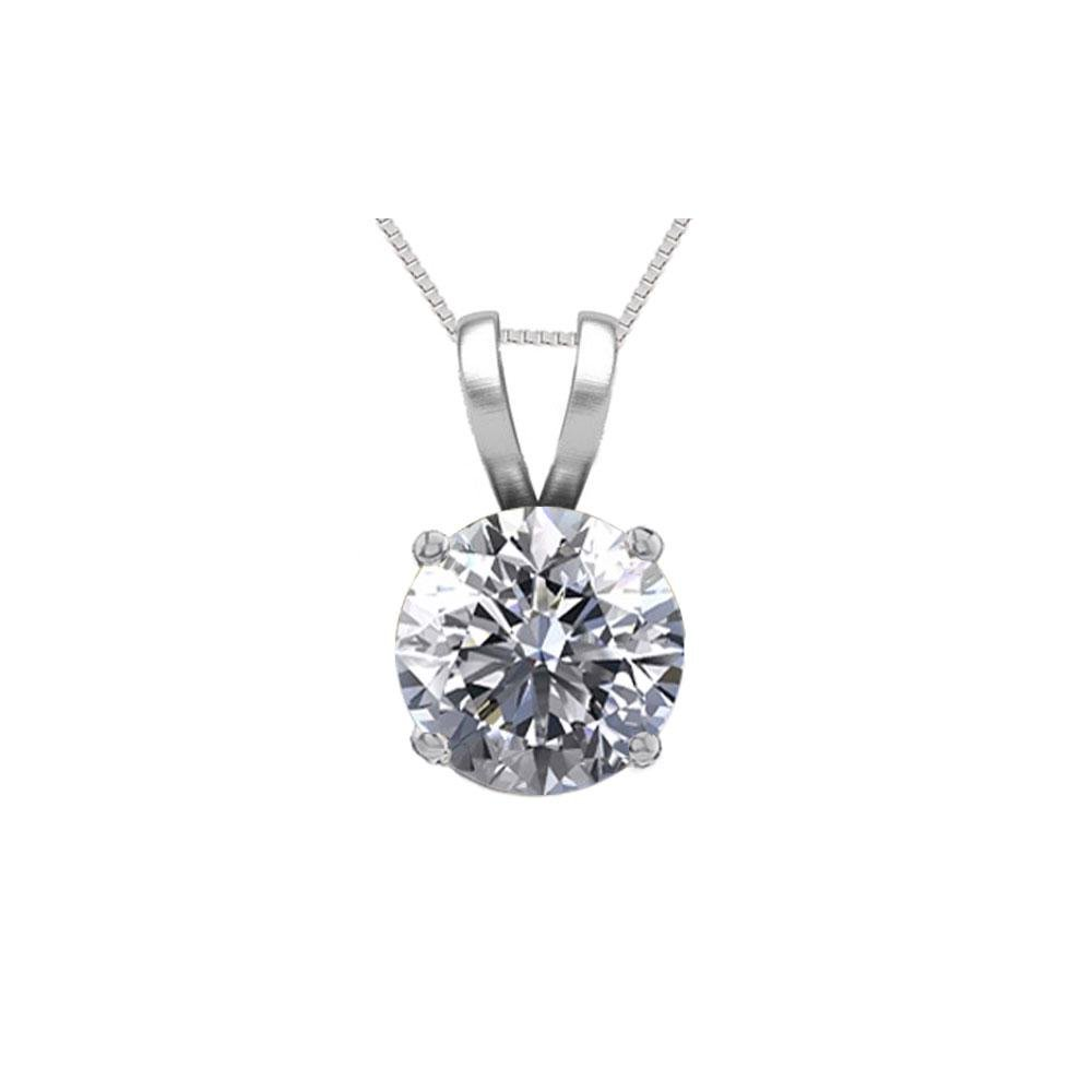14K White Gold 0.52 ct Natural Diamond Solitaire