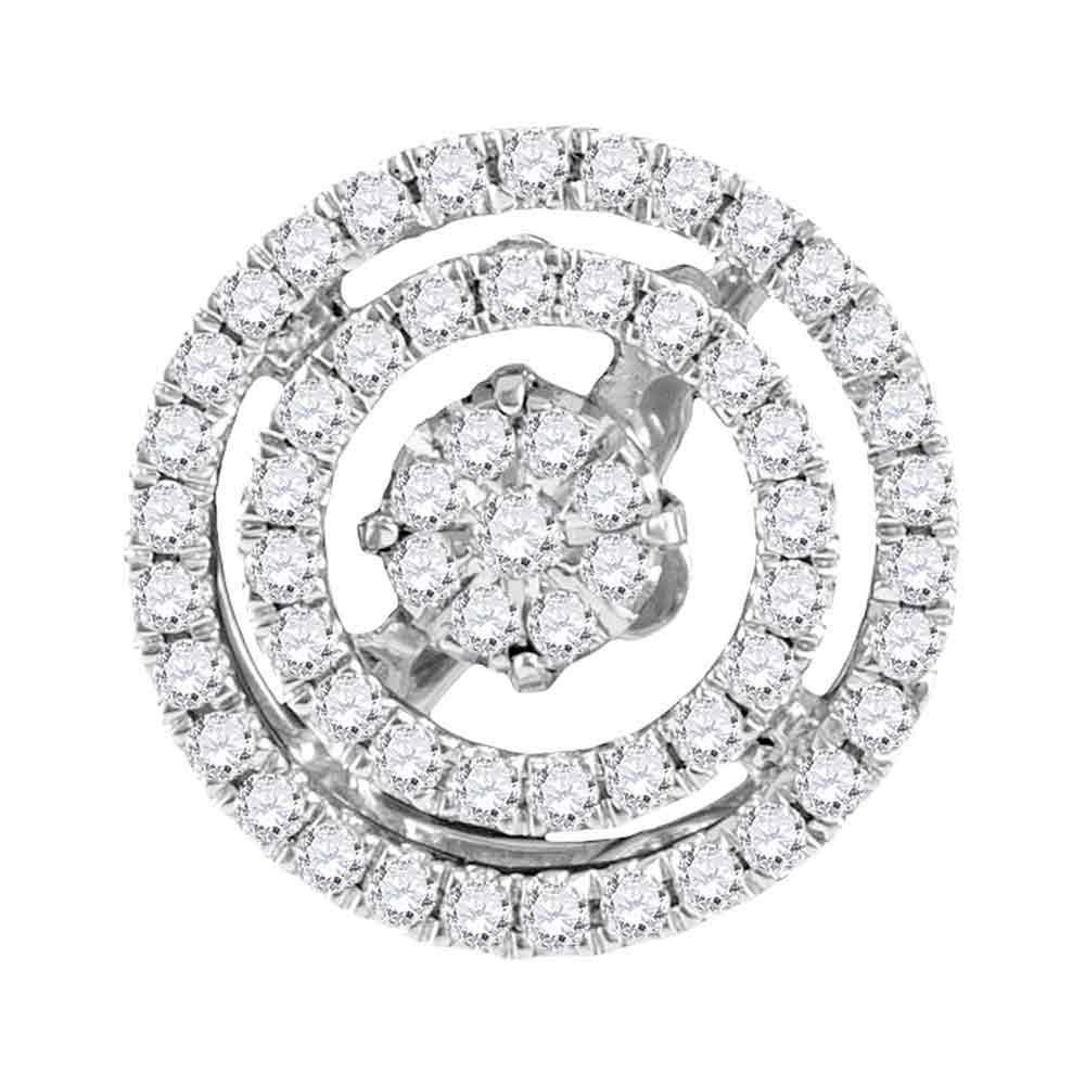 0.29 CTW Diamond Pendant 10K White Gold - REF-40M3F