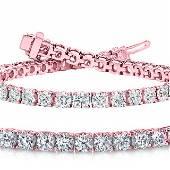 Natural 601ct VSSI Diamond Tennis Bracelet 14K Rose