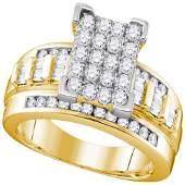 1 CTW Round Diamond Bridal Wedding Engagement Ring 10kt