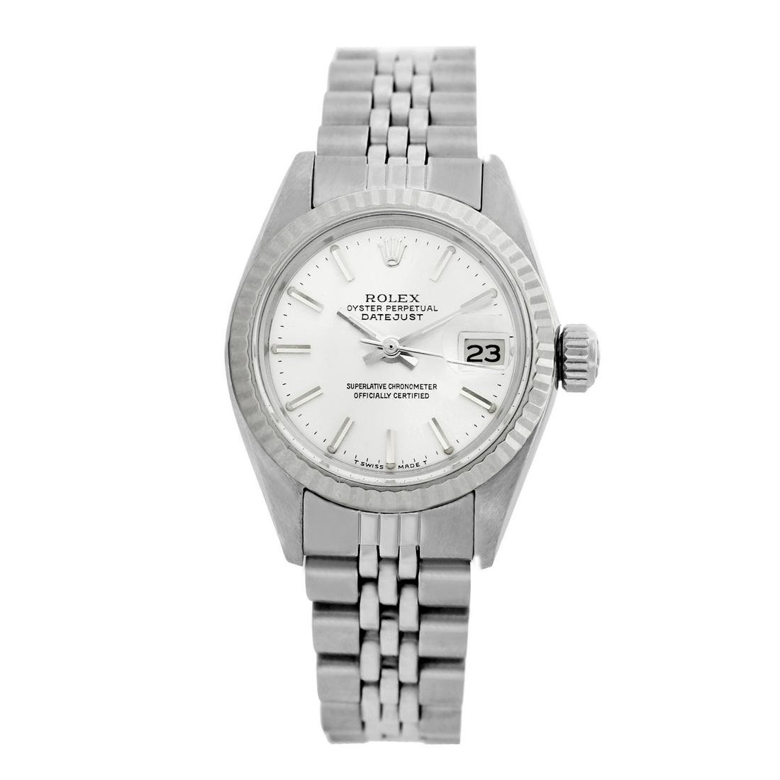 Rolex Pre-owned 26mm Womens Original Rolex Silver Dial