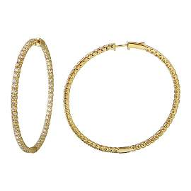 Natural 5.81 CTW Diamond Earrings 14K Yellow Gold -