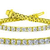 Natural 7ct VS2-SI1 Diamond Tennis Bracelet 18K Yellow