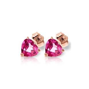 Genuine 3.25 ctw Pink Topaz Earrings 14KT Rose Gold -