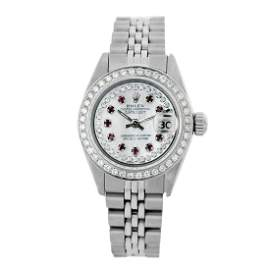 Rolex Pre-owned 26mm Womens Custom String White MOP