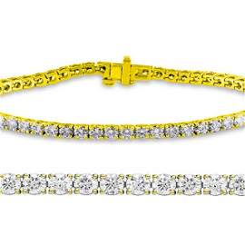 Natural 2.03ct VS2-SI1 Diamond Tennis Bracelet 18K