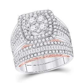 Diamond Bridal Wedding Ring Band Set 2-1/2 Cttw 14KT
