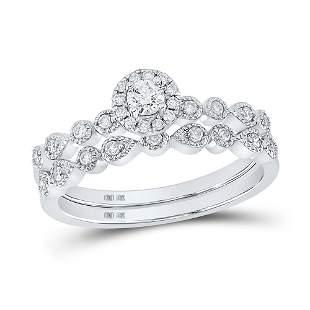 Diamond Stackable Bridal Wedding Ring Band Set 1/3 Cttw