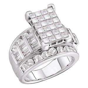 Cluster Bridal Wedding Engagement Ring 5 Cttw 14KT