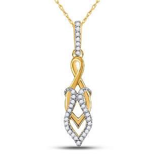 Round Diamond Spade Fashion Pendant 1/10 Cttw 10KT