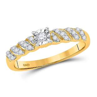Round Diamond Solitaire Promise Ring 1/5 Cttw 10KT