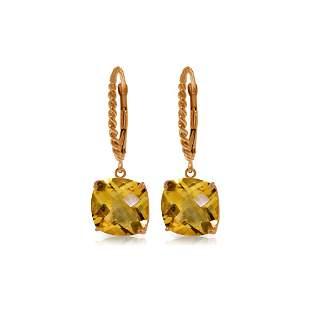 Genuine 7.2 ctw Citrine Earrings 14KT Rose Gold