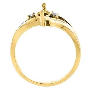 1.14 CTW Garnet & Diamond Ring 10K Yellow Gold