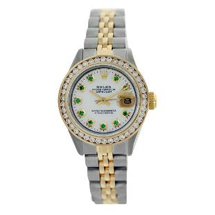 Rolex Pre-owned 26mm Womens Custom White Mother of