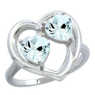2.60 CTW Aquamarine Ring 14K White Gold