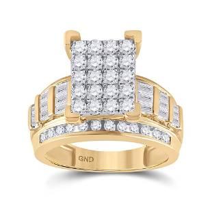 Diamond Cluster Bridal Wedding Engagement Ring 1-1/2